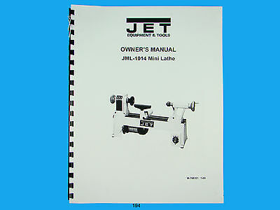 Jet  Jml-1014 Wood Lathe Owners Manual 194