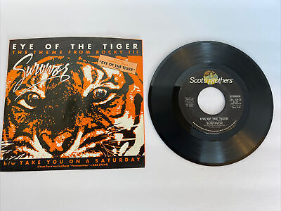 "Survivor ""Eye Of The Tiger"" 45 RPM Record & Picture Sleeve 1982"