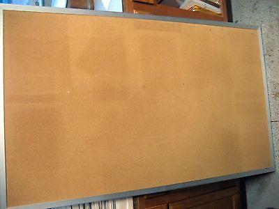 Used Cork Board 3 X 5 Aluminum Framed Wall Mount Wwarranty