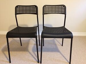 IKEA ADDE chairs, nearly new, 2 for $16