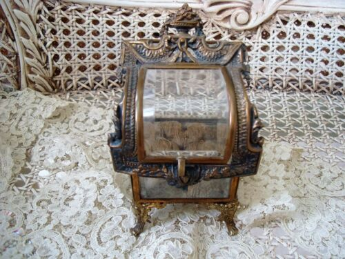 EXQUISITE OLD FRENCH STYLE JEWELRY BOX TRINKET BOX VITRINE ***GORGEOUS***