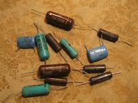 NOS ITW .15uf 600v Polyester Drop Capacitors Vintage 2pcs