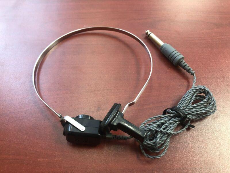 New RadioEar B71 10 Ohms bone conduction transducer/oscillator w/ band & cord