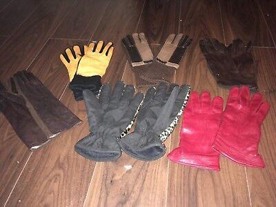 True Vintage Rare Classic 6 pair of retro gloves various colours size 7