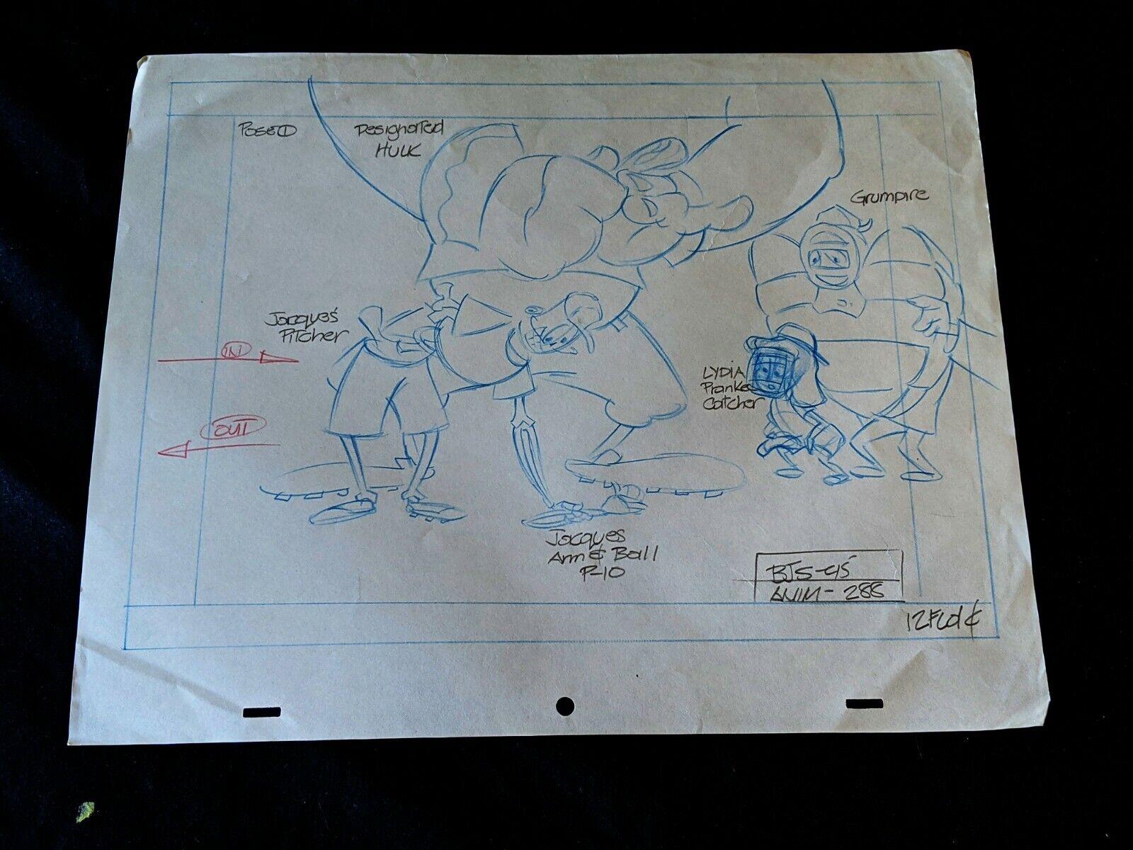 Beetlejuice 1989 TV Series Animation Production LYDIA Hand Drawn Pencil Art - $9.99
