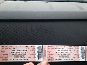 2 tickets for metric with July talk