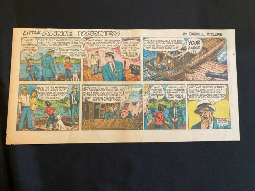 #09 LITTLE ANNIE ROONEY by Darrell McClure Sunday Third Page Comic Strip 1960