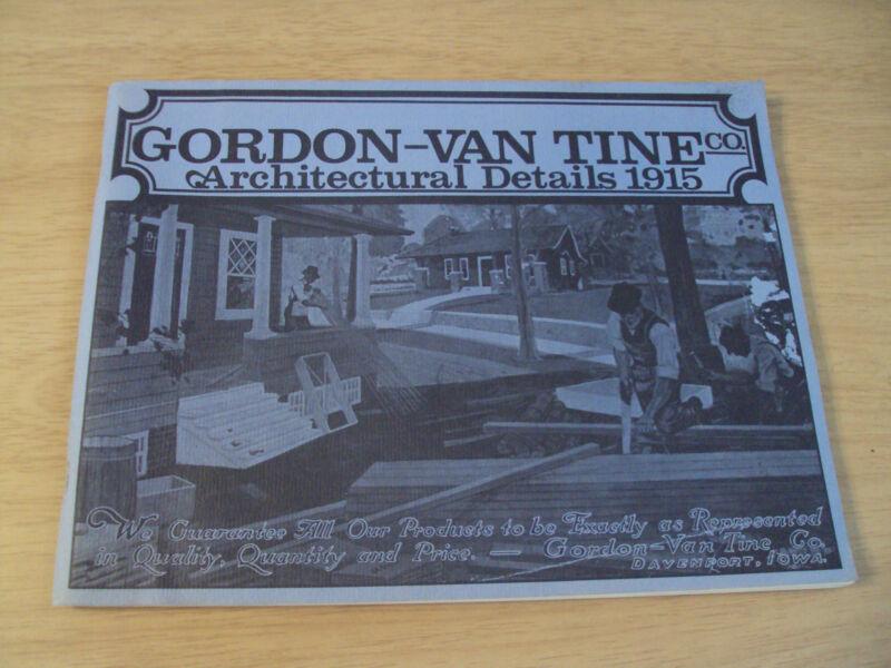 "Antique 1915 Home CATALOG~""Gordon-Van Tine Co""~ARCHITECTURE~1985 REPRINT~"