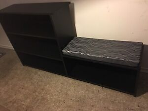 Bench and shelf combo