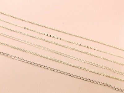 Chain Link Cable Beads - 925 Sterling Silver Link CHAIN Unfinished Beading DIY ~Curb/ Rollo/ Cable Chain