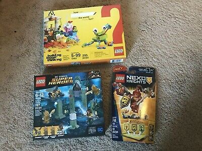 lot Of 3 LEGO Sets World Building, Super Heroes, Nexo Knights   NEW