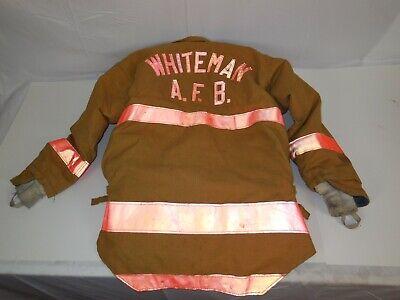 2004 Morning Pride 42 Wafb Firefighter Turnout Jacket Coat Bunker Air Base