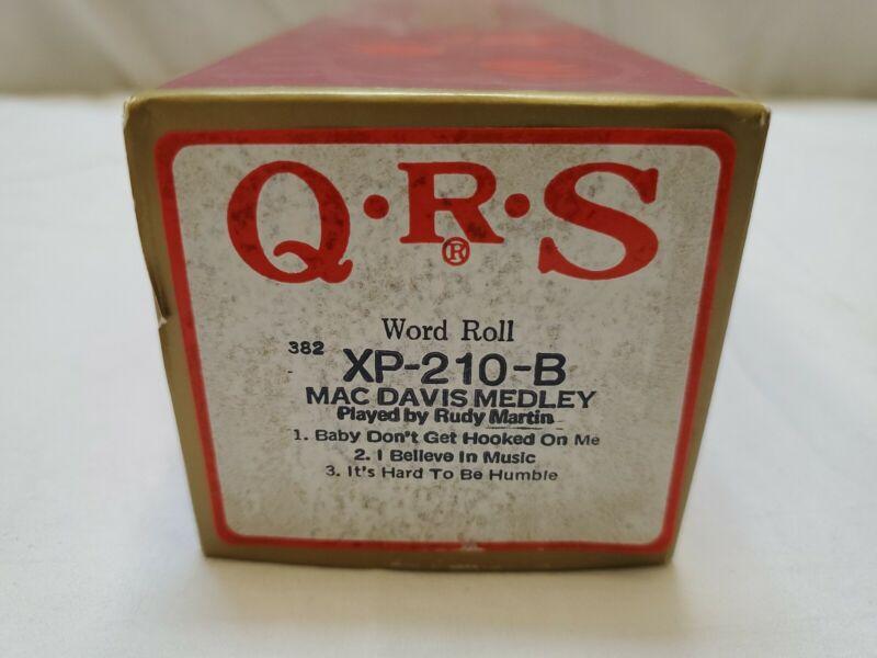 QRS Word Roll MAC DAVIS MEDLEY 3 songs