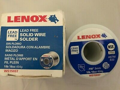 Lenox Ws15037 Lead Free Solid Wire Solder New In Box