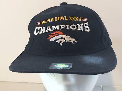 4e95a553600291 Vintage Super Bowl XXXII Champions Broncos Denver Colorado Cap for Men NFL