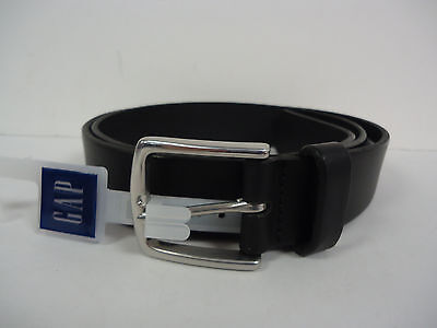 Gap Men's Basic Leather Belt 40 BLACK Made in USA