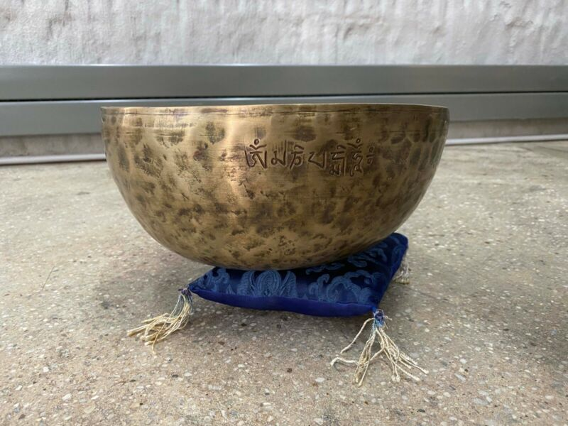 "11"" Brass Singing Bowl Set_Nepal_Hand hammered"