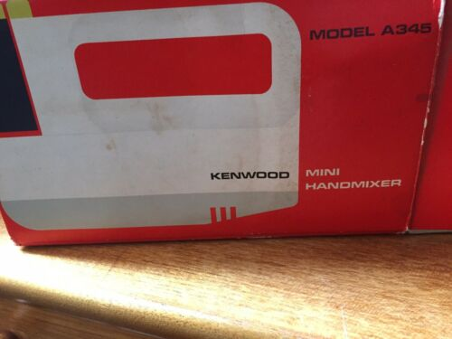 Vintage Kenwood Mini Handmixer Mixer A345 Never Used