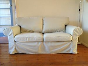 2 Seater Couch with Beige Cover_EKTORP Naremburn Willoughby Area Preview