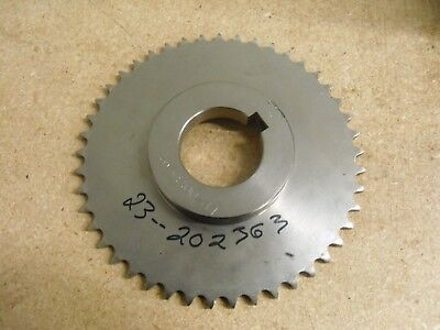 """ROLLER CHAIN SPROCKET #40 CHAIN, 45 TEETH,  2"""" BORE, 7.45"""" OD STAINLESS STEEL"""