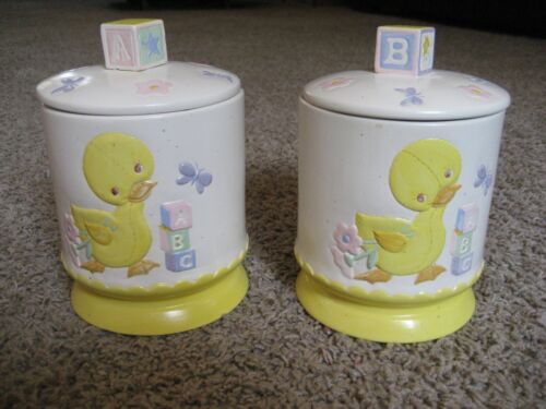 Ceramic Decorative Canisters w/ Lids for Babies Room / Nursery