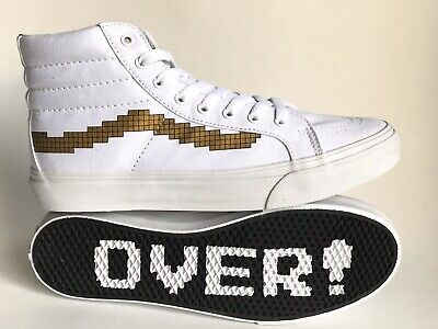 VANS SK8 HI WHITE SLIM ( NINTENDO ) CONSOLE / GOLD NEW WITH BOX
