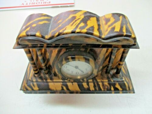 BAKELITE Vtg mantel table  Clock