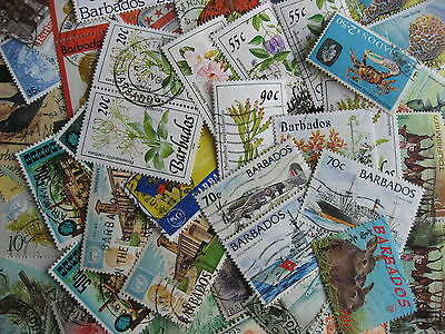 Scrap pile of 55 BARBADOS. Duplicates, mixed condition,what lurks?