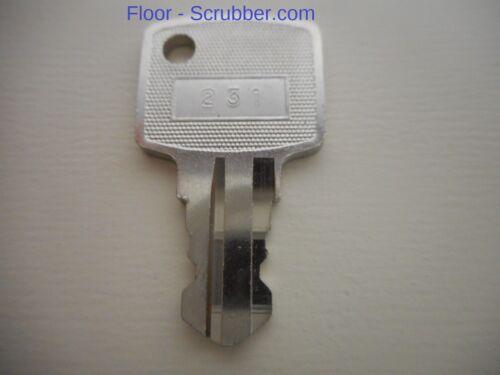 Spare Key Windsor Karcher Chariot Saber Cutter SaberGlide 86004860, 48073