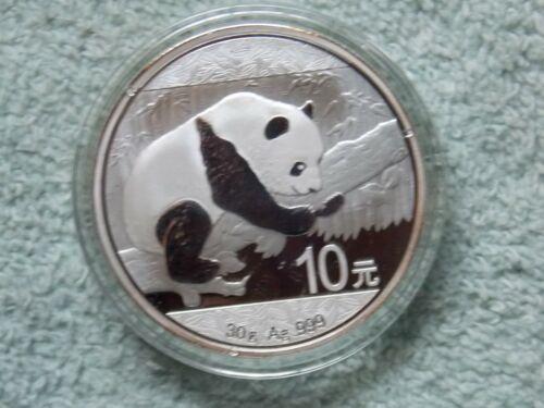 2016 Chinese Silver Panda 10 Yuan 30 gram BU