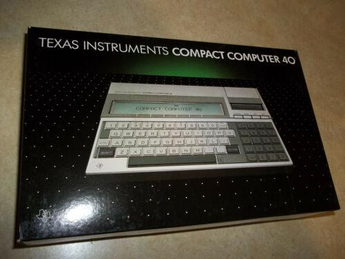 NEW CC-40 Texas Instruments COMPACT COMPUTER 40 CC TI CC40 WORKING Unit #1