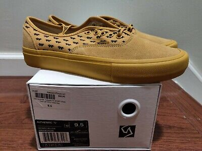 Brand new Vans Syndicate Wtaps Yellow Wings Authentic S Size 9.5 Golf Wang