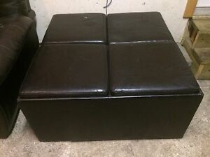 Leather Ottoman/Coffeetable