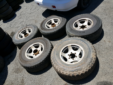 Land cruiser 80 series wheels and tyres $249
