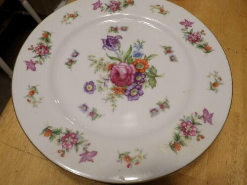 Harmony House Dresdania Floral Pink Purple - 6  Dinner Plates - 10 inches