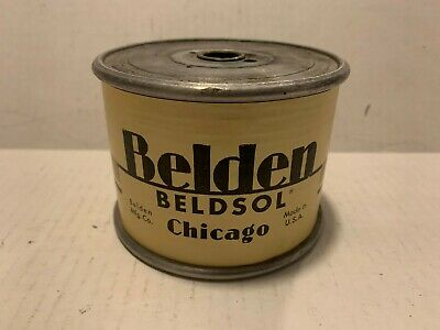 Vintage 1964 Belden Heavy Beldsol 29 Wire Weighs 5 Lbs 13 Oz Spool Transformer