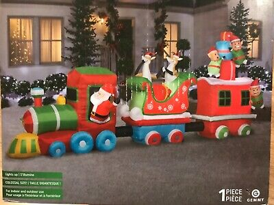 ~ GIANT COLOSSAL ~ 16 FOOT CHRISTMAS TRAIN ~ GEMMY INFLATABLE ~ $299.99 ~ NEW ~