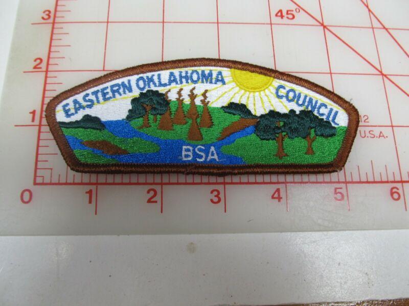 Eastern Oklahoma Council CSP collectible PB patch (o34)