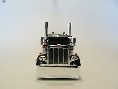 DCP FIRST GEAR 1/64 SCALE 359 PETERBILT SMALL BUNK, BLACK, ORANGE & WHITE 3