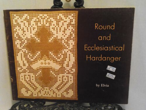 HARDANGER ROUND AND ECCLESIASTICAL Church Altar Religious Christian Designs BOOK