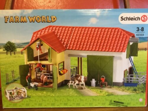 Schleich Farm World Horse Barn and Stable New #42333