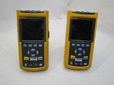 Qty 2 Fluke 43b Power Quality Analyzer Meter - Parts And Repair T9-d11