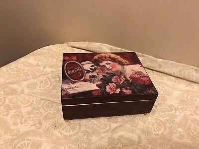 1994 Coca Cola Coke Jewelry Trinket Box Musical