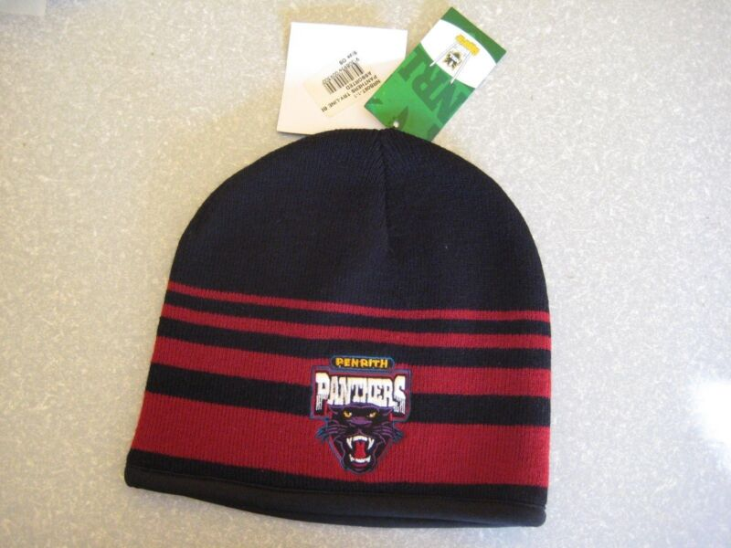 NRL PENRITH PANTHERS BEANIE Embroidered Rib knit -NEW w/tags!