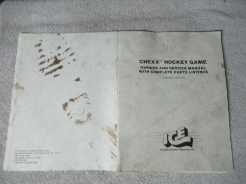 CHEXX ICE  arcade game manual