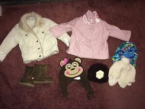 Winter coats, hats and boots