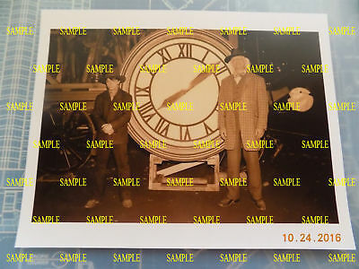Back to the Future 3 - Doc and Marty Clock Print - 8.5