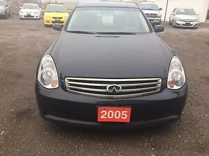 2005 INFINITI G35 BLACK ON BLACK LEATHER, NICE RIMS