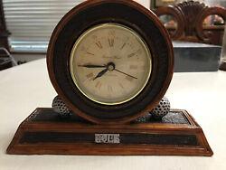 Brown Wood-like Winchester Quartz GOLF Desk Clock by Richard Ward (EUC)