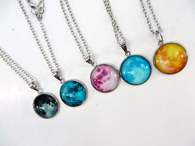 $0.95 each- 48 pieces wholesale glow in the dark necklace luminous glass pendant (Glow In Dark Necklaces Wholesale)